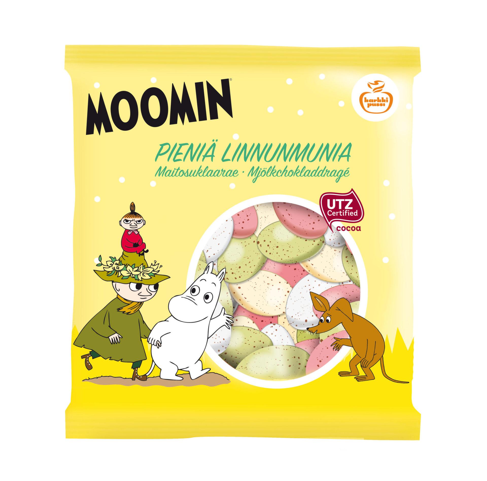 Karkkipussi Moomin Pieniä Linnunmunia UTZ